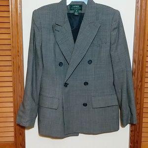 Designer blazer Ralph Lauren made in USA size 8P